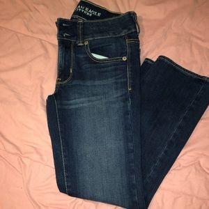 AE dark blue jean capris